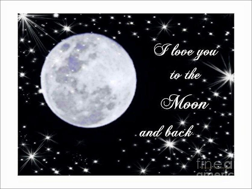 Love Photograph - Love You To The Moon And Back by Michelle Frizzell-Thompson