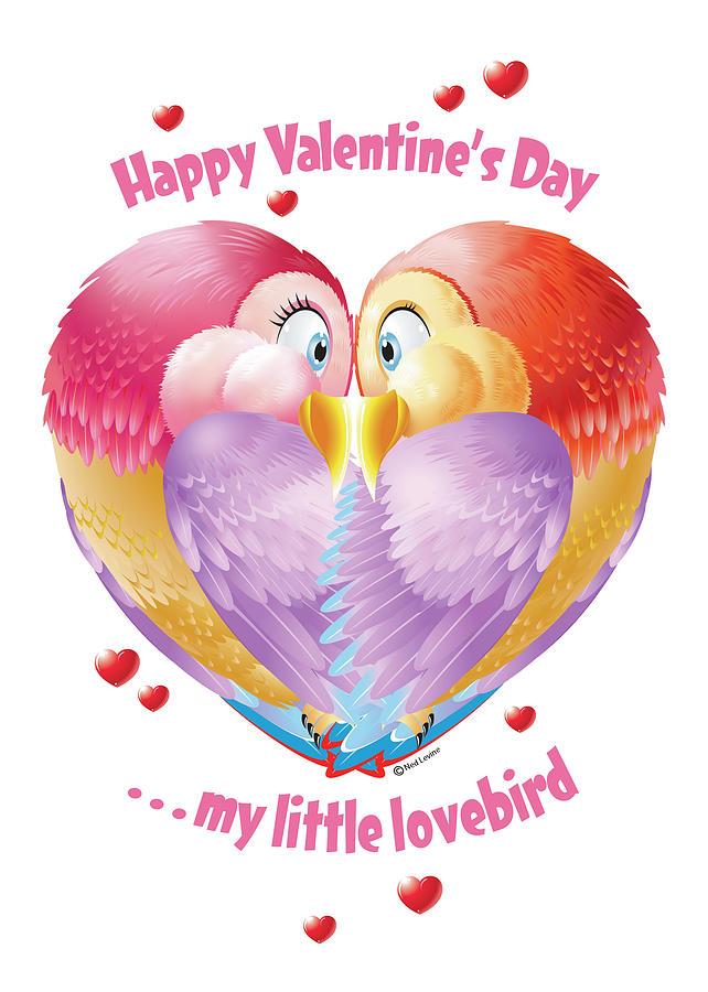 Lovebirds Digital Art - Lovebirds by Ned Levine