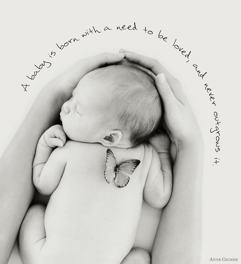 Words Photograph - Loved by Anne Geddes