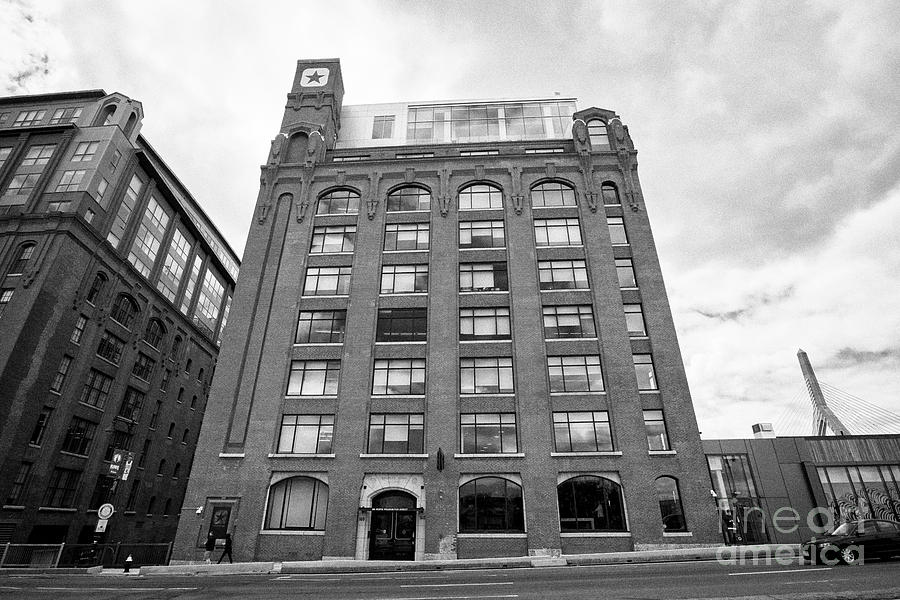Lovejoy Photograph - Lovejoy Wharf Former Submarine Signal Building  Converse World Headquarters Building Boston Usa by c124de68f