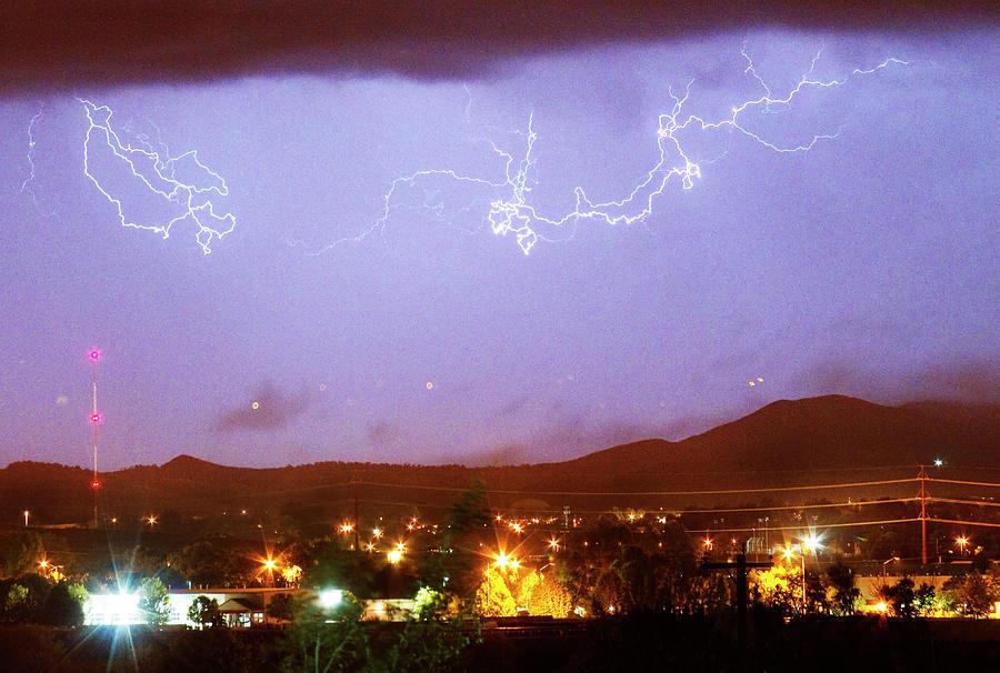 Boulder County Photograph - Loveland Colorado Front Range Foothills  Lightning Thunderstorm by James BO Insogna