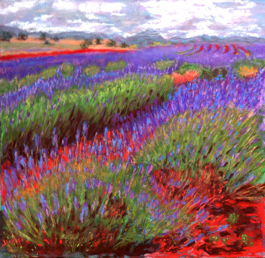 Flowers Pastel - Lovelocks Lavender by Laura Gabel