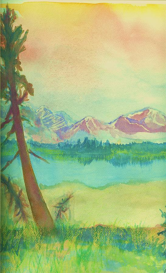Landscape Painting - Lovely Day By The Athabasca River by Colette Richard