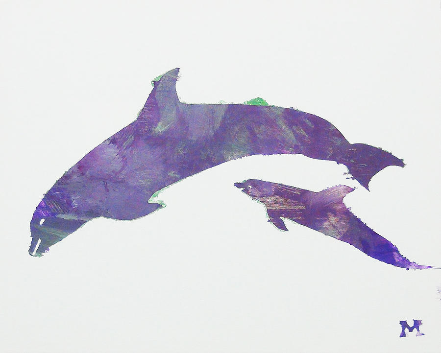 Horse Painting - Lovely Dolphins by Candace Shrope
