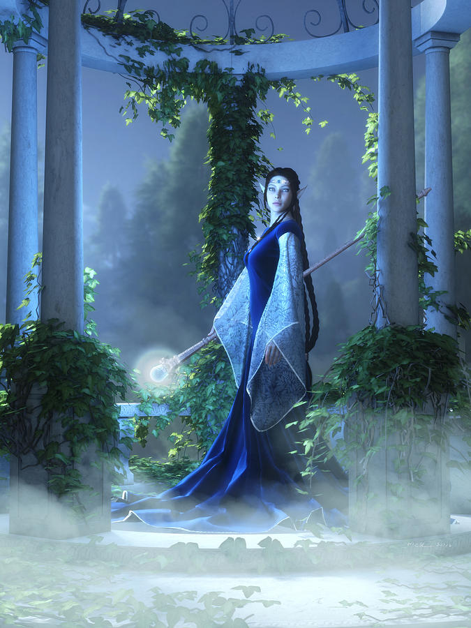Elven Maid Digital Art - Lovely Is The Night by Melissa Krauss