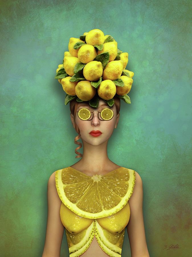 Lovely Lemon Mixed Media