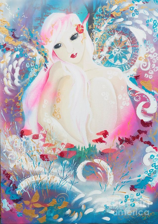 Fantasy Painting - Lovemist by Tiina Rauk