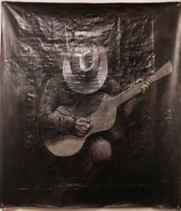 Loven Blues 4x4 Feet Painting by Meat-Jeffery Paul Gadbois