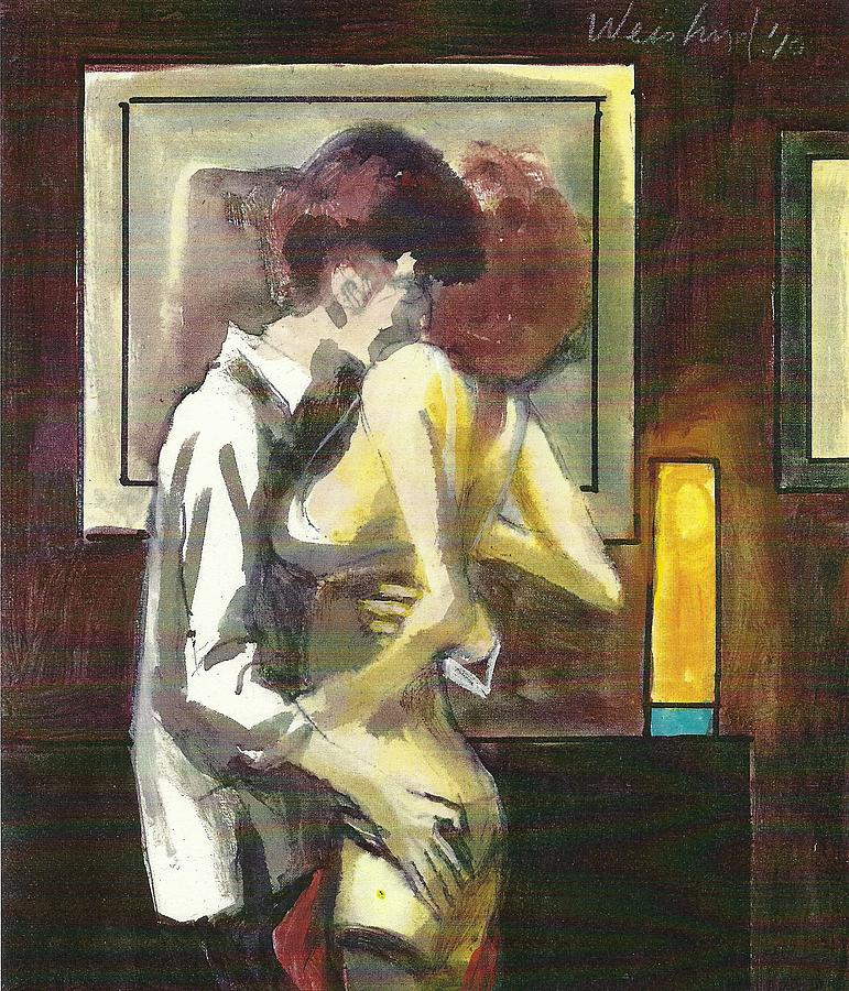 Love Painting - Lovers 111 by Harry  Weisburd