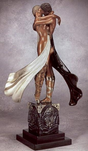 Bronze Sculpture - Lovers and Idol by Erte