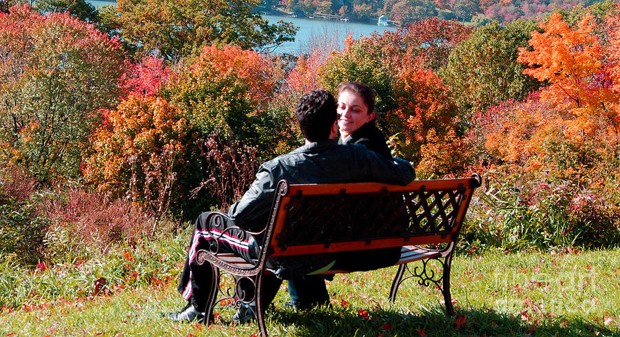 Lake Waramaug Photograph - Lovers by Andrea Simon
