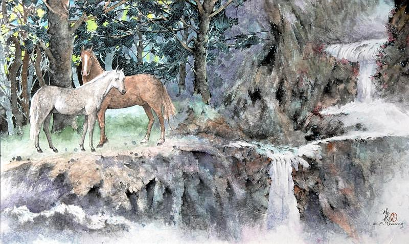 Horses Painting - Lovers by Chienfei Chiang