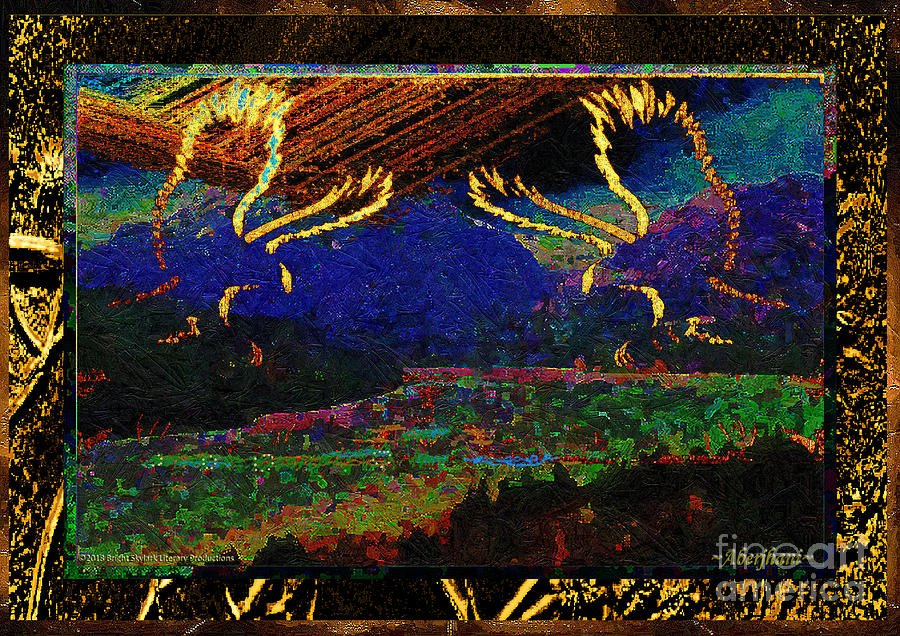 Gold Mixed Media - Lovers Dancing In The Golden Light Of Dawn by Aberjhani