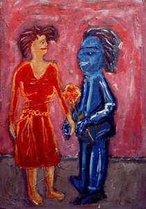 Lovers Painting by Dragan Katanic
