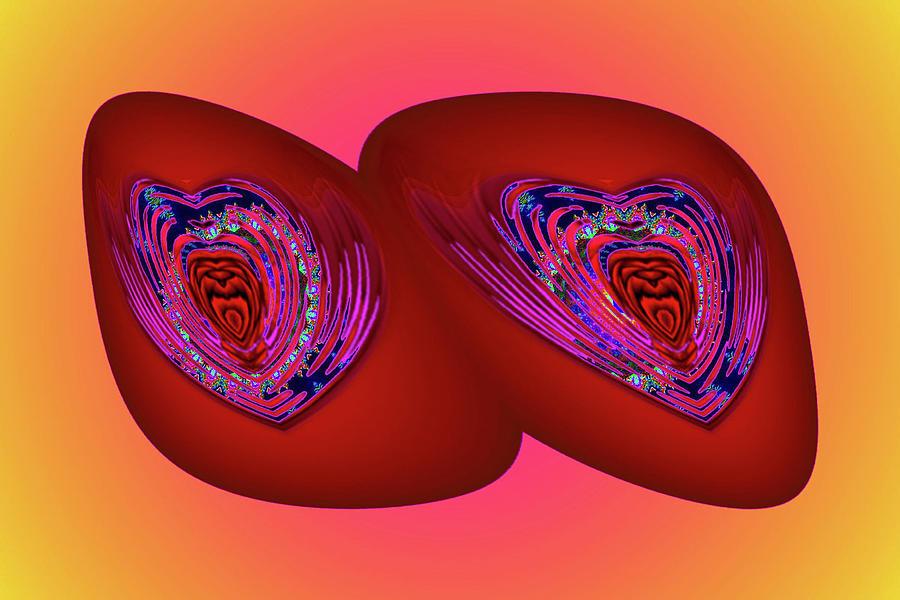 Lovers Healing Stones Digital Art