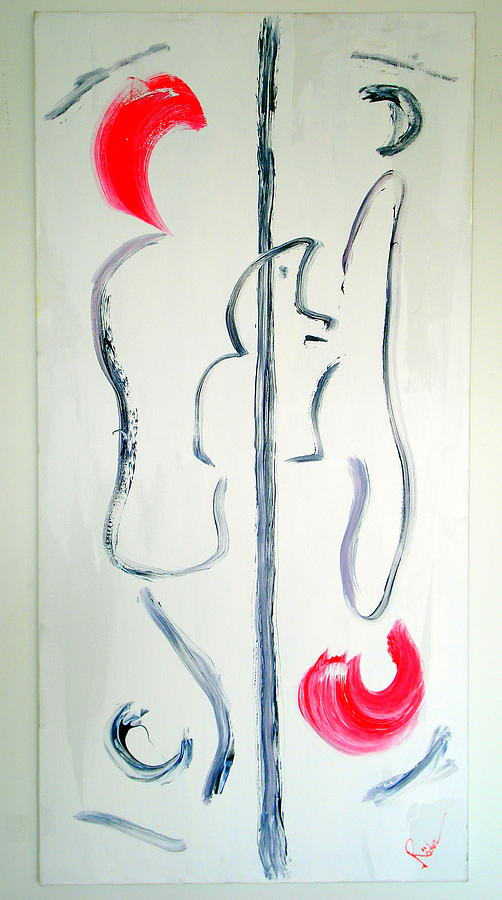 Abstract Painting - Lovers II by Runhild Roeder