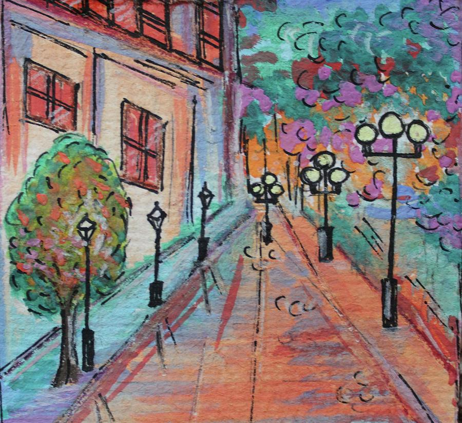 Watercolor Painting - Lovers Lane by Art By Naturallic