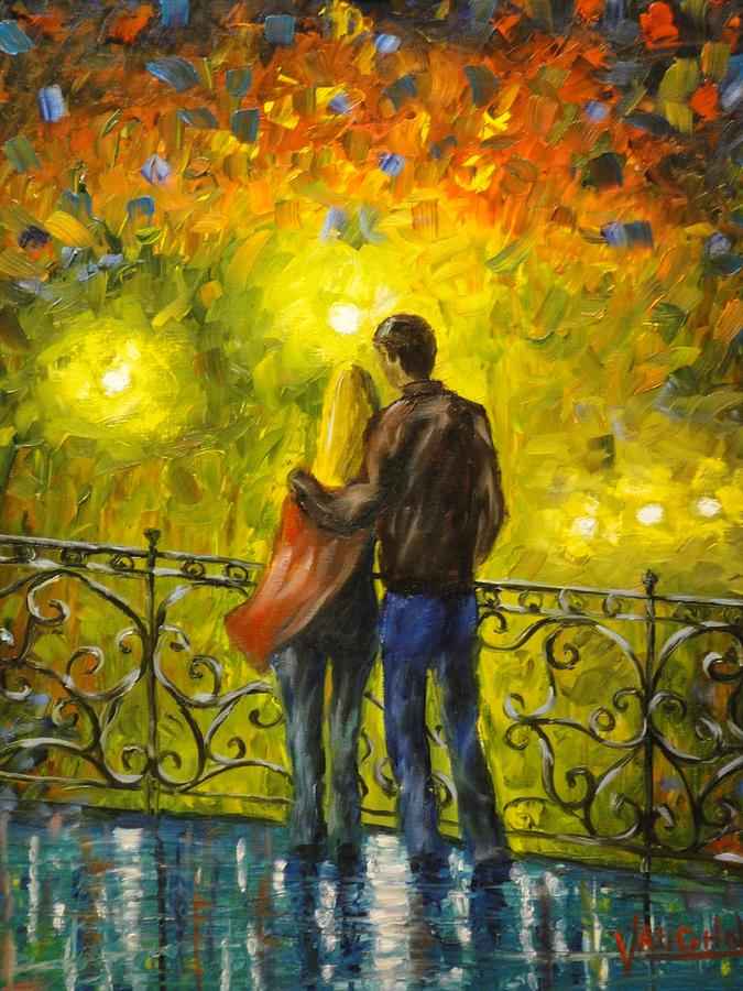People Painting - Lovers Leap by Charles Vaughn
