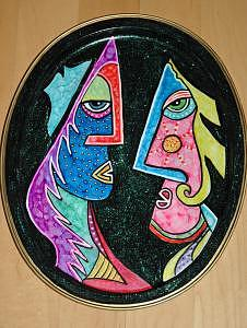Lovers Mixed Media - Lovers by Mickie Boothroyd