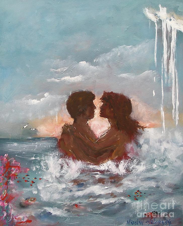 lovers by Miroslaw  Chelchowski