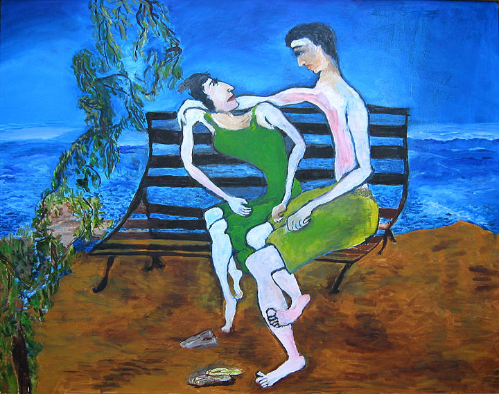 Lovers Painting - Lovers by Padma Prasad