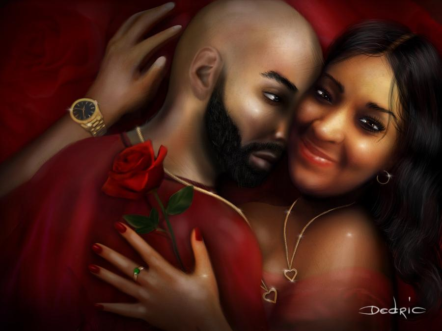 Lovers Portrait by Dedric Artlove W