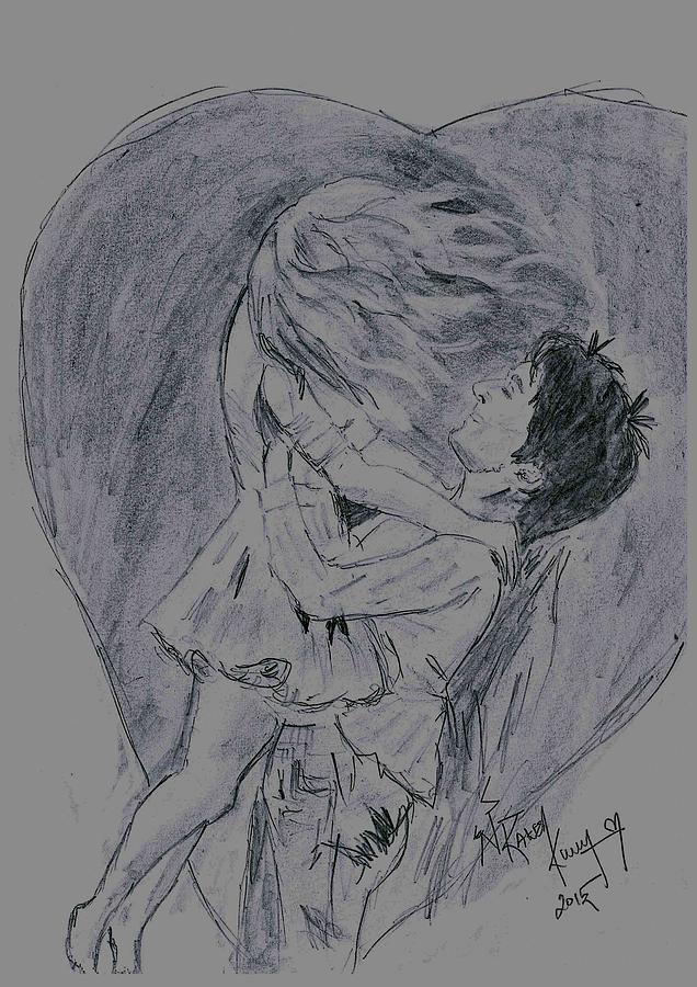 Lovers Special Drawing by Rakesh Kumar Natarajan