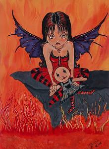 Fairy Painting - Loves Sacrifice by Bonnie Brewer