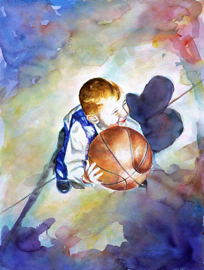 Watercolor Painting - Loves the Game by Shannon Grissom