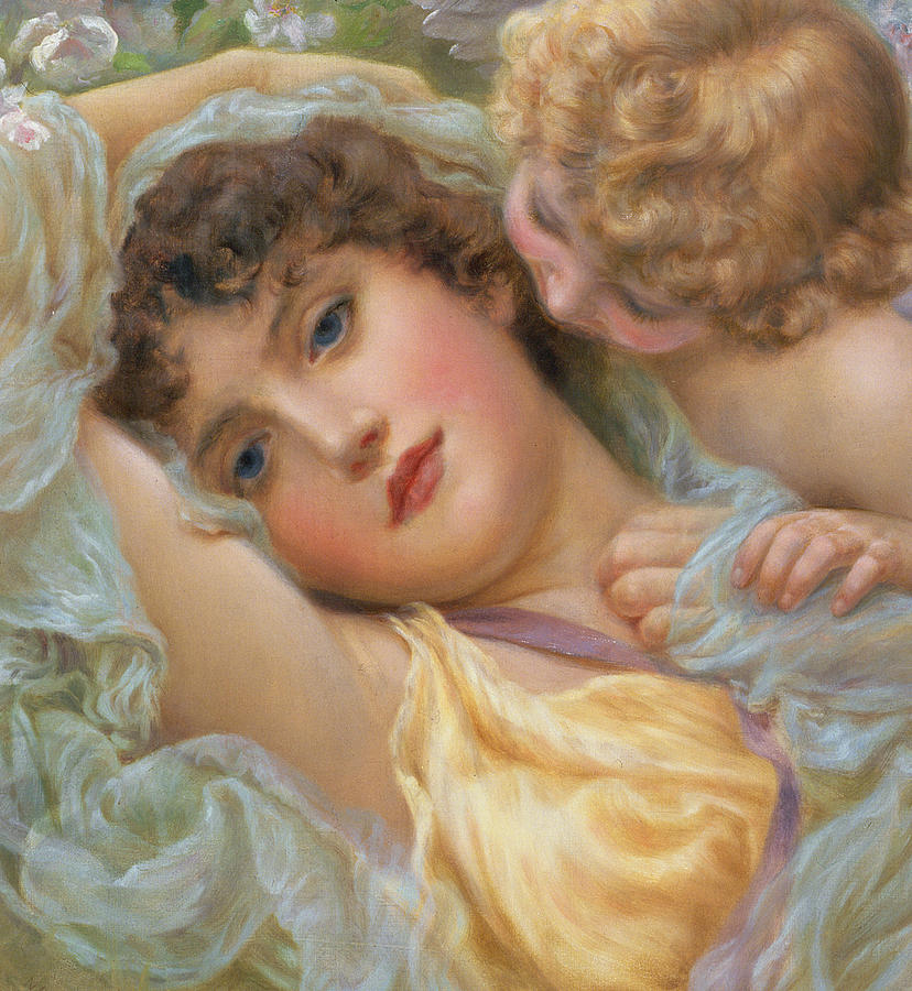 Romantic Painting - Loves Whispers by NP Davies