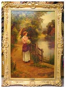 Loving Flowers Painting by Ernest Walbourn