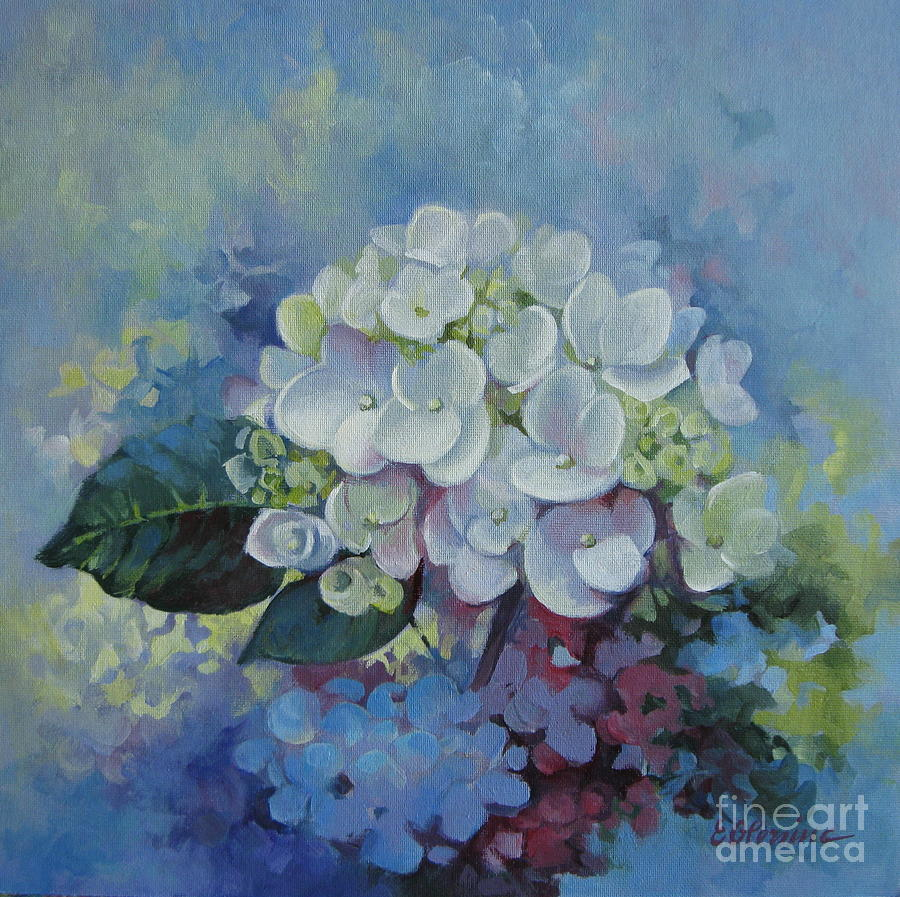 Loving Hydrangea Painting By Elena Oleniuc