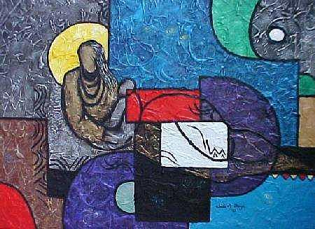 Mothers Love Painting - Loving Mom by Chidi Okoye