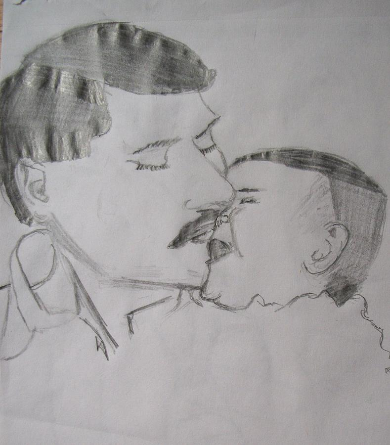 Children Drawing - Loving New Father by Casey Bingham