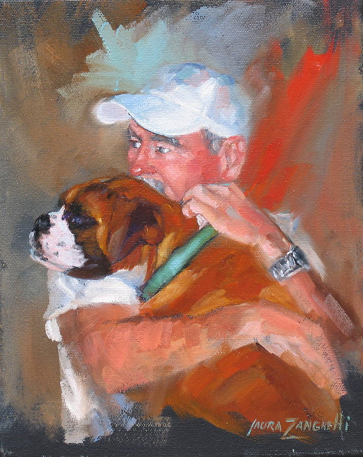 Oil Painting Painting - Loving Roxie by Laura Lee Zanghetti