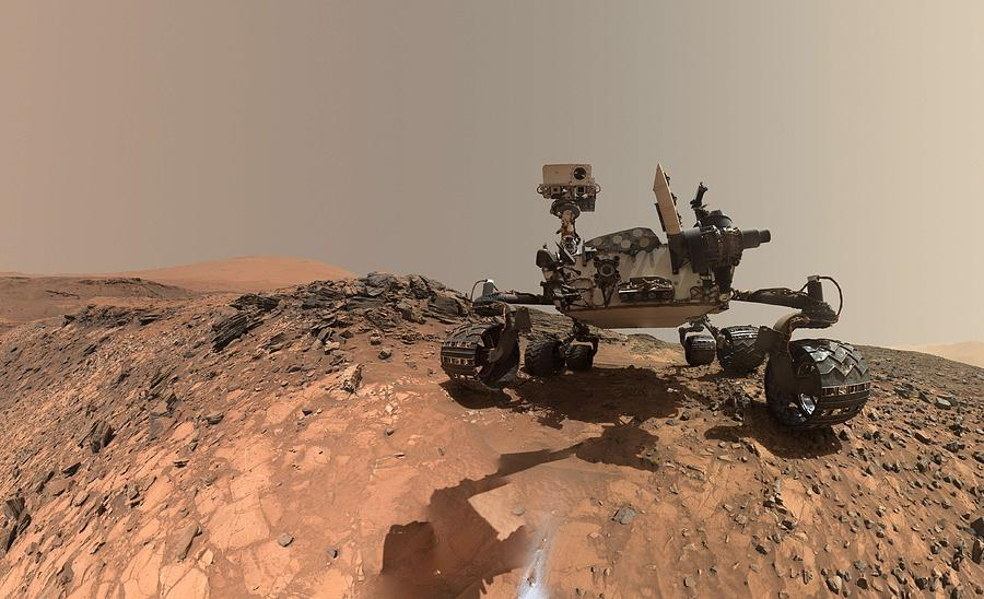 Nature Painting - Low-angle Self-portrait Of Nasas Curiosity Mars Rover by Artistic Rifki