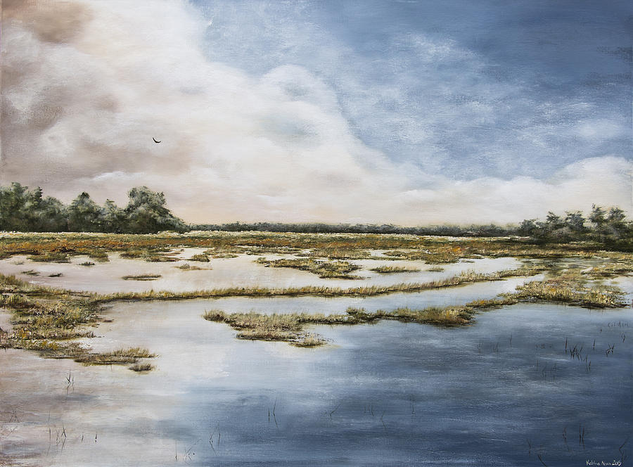 Clouds Painting - Low Country II by Katrina Nixon
