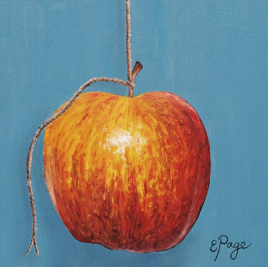 Apple Painting - Low Hanging Apple by Emily Page
