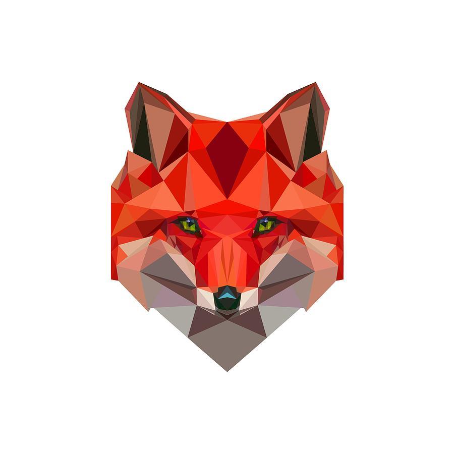 Low Polygon Fox Digital Art By Alexandra Dan