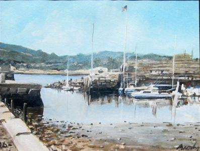 Landscape Painting - Low Tide 1 by William  Brody