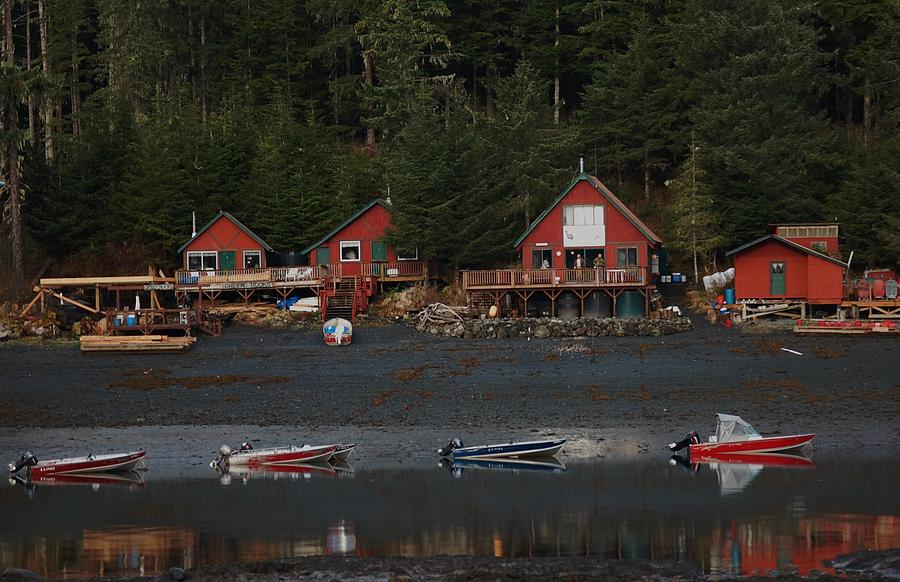 Alaska Photograph - Low Tide At Fish Camp by Helen Carson