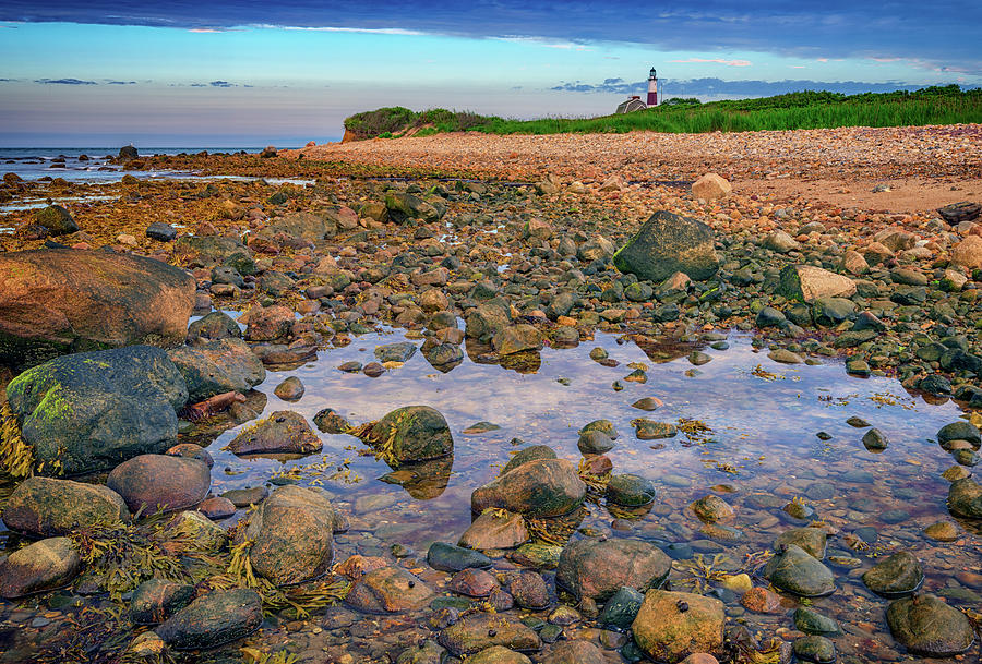 Montauk Photograph - Low Tide At Montauk Point by Rick Berk