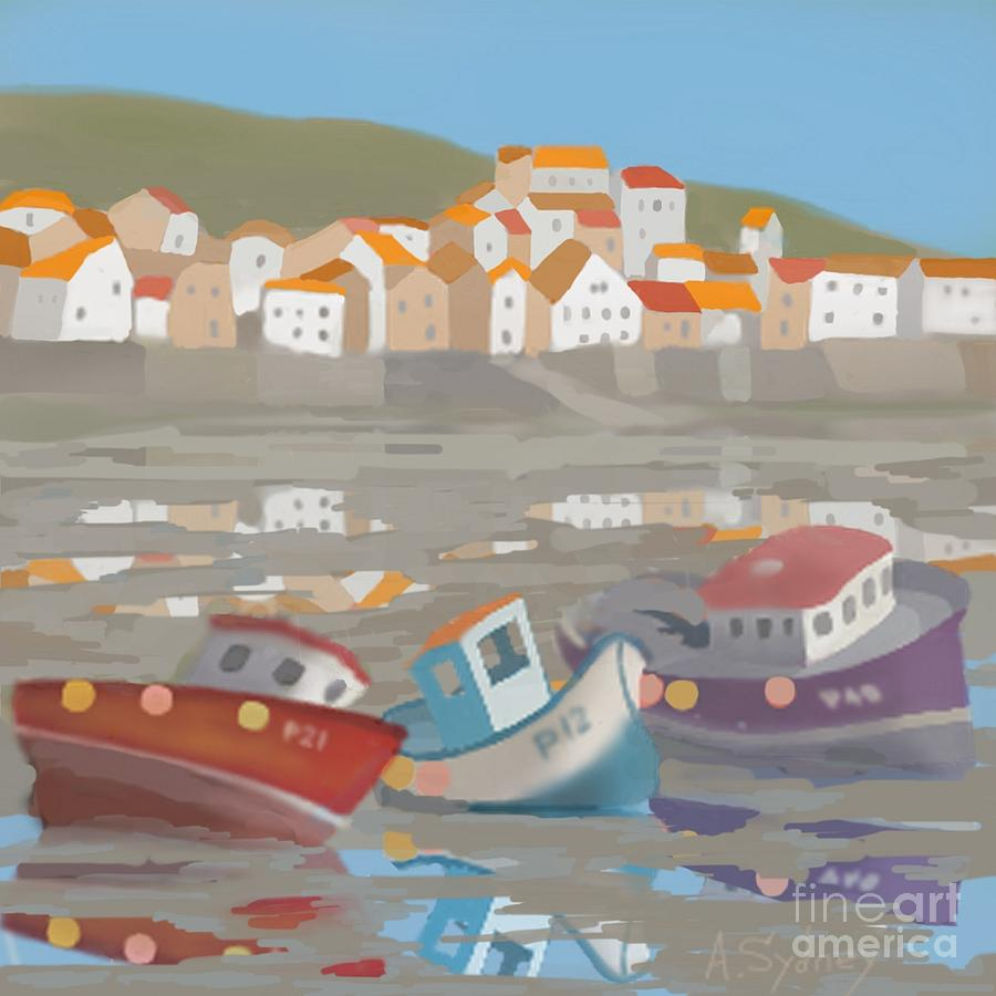 Low tide at staithes digital art by alexander sydney harbor digital art low tide at staithes by alexander sydney nvjuhfo Gallery