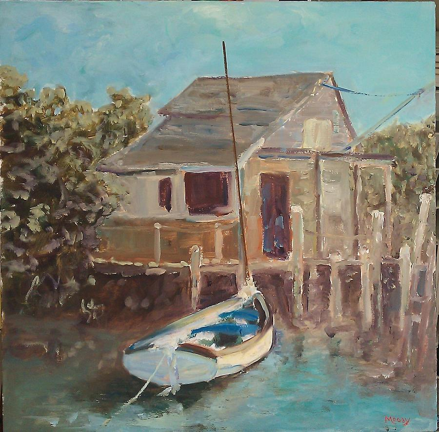 Marine Art Painting - Low Tide Bahamas by Brent Moody