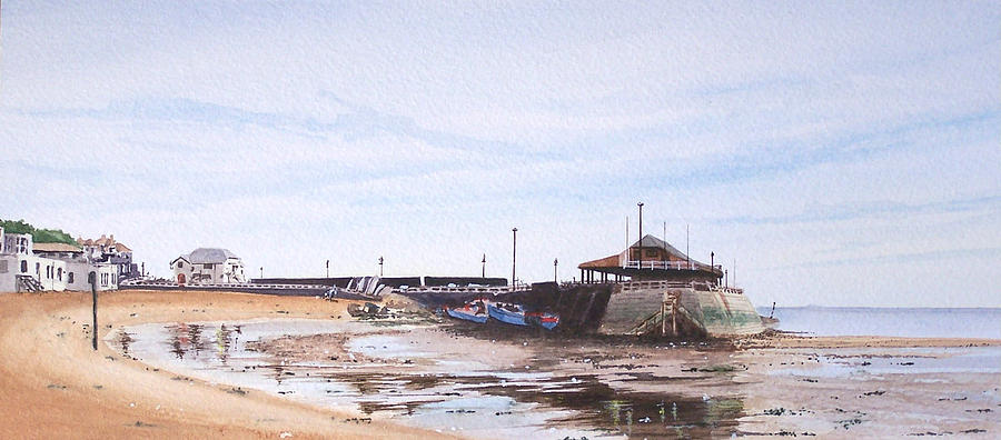 Seascape Painting - Low Tide Broadstairs by Martin Howard