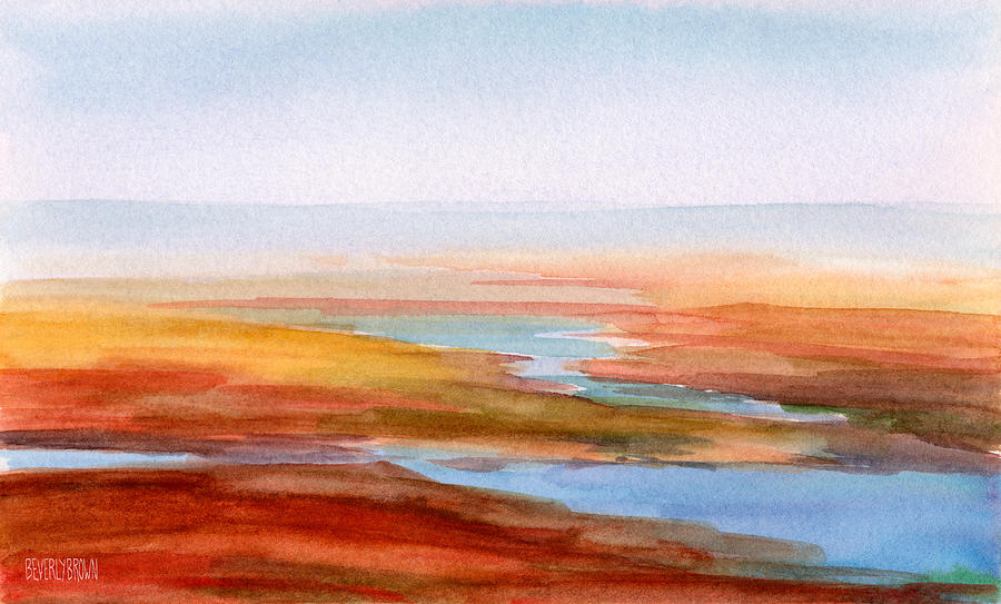 Attractive Cape Cod Low Tide Part - 14: Cape Cod Painting - Low Tide Cape Cod By Beverly Brown Prints