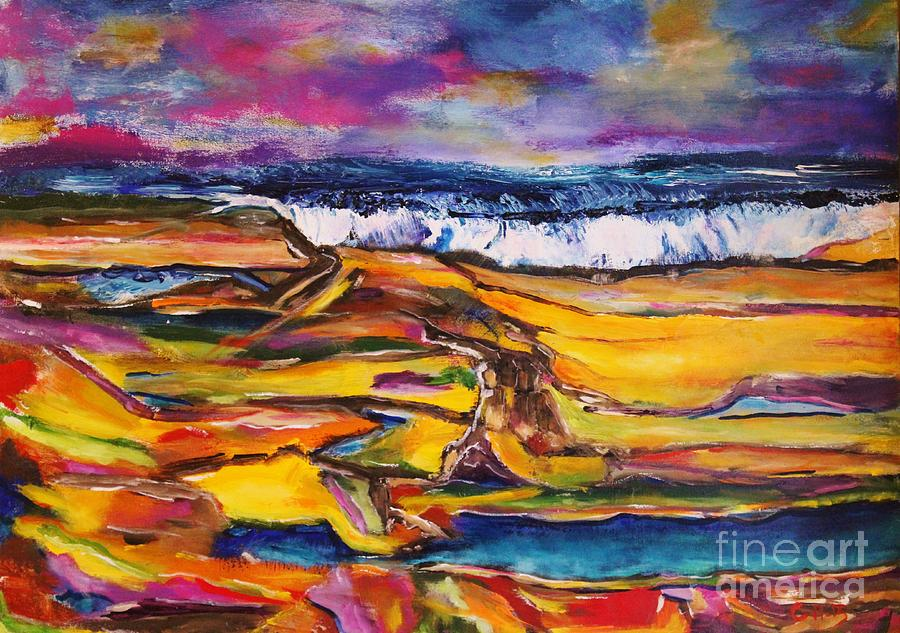 Abstract Painting - Low Tide by Chaline Ouellet