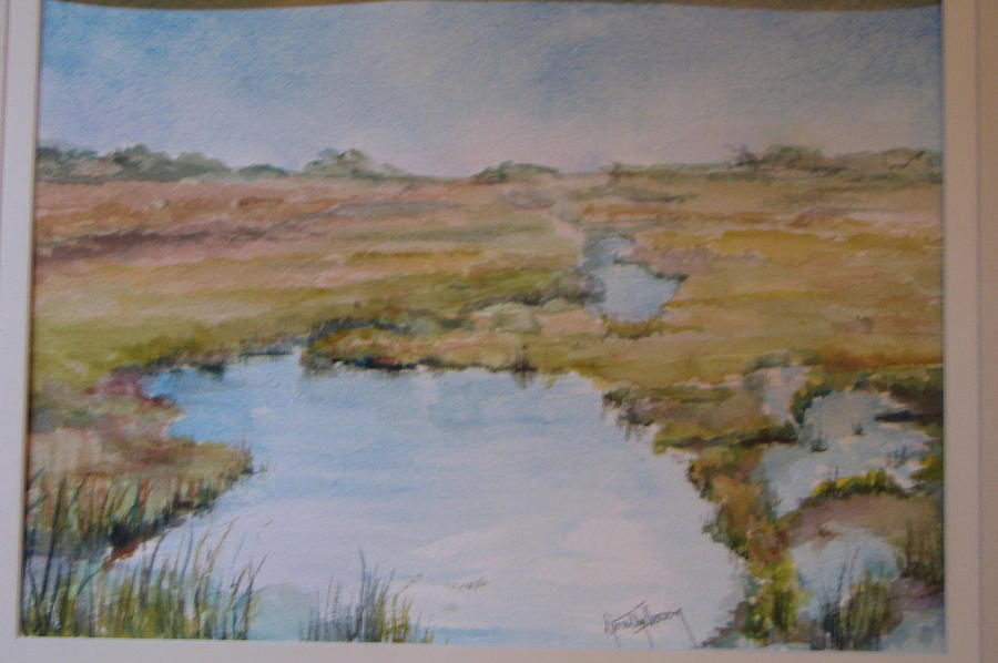 Tide Painting - Low Tide by Dorothy Herron