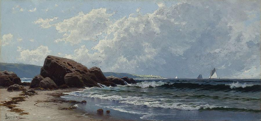 Nature Painting - Low Tide, Hetheringtons Cove, Grand Manan By Alfred Thompson Bricher by Alfred Thompson Bricher