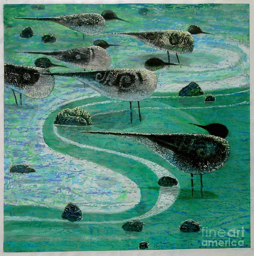 Low Tide Painting by Joe Chen